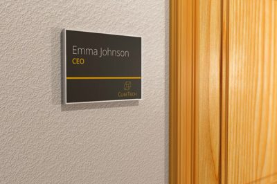 Vista Sharp Family Office Door Signs