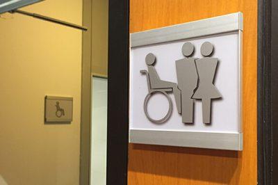 Vista Square Family Restroom Signs