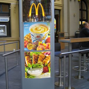 Vista Sign System Was Chosen for a McDonald's Branch in Oslo Norway