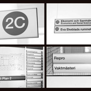 Interior Wayfinding Sign System Chosen by a Swedish College for Re-branding Project