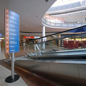 Complete Way Finding Solution at EMKA, a Big Shopping Center in Koszalin, West Poland