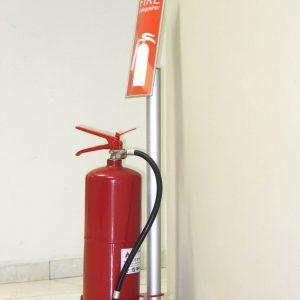 Vista System International Fire Extinguisher Stand Helps Achieve Greater Safety